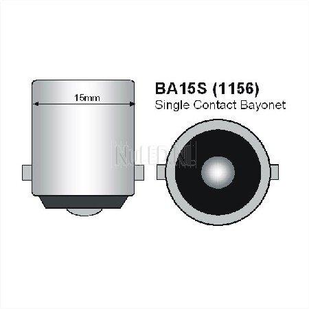 BA15s Led lamp 12 SMD 12v of 24v Warm wit-902
