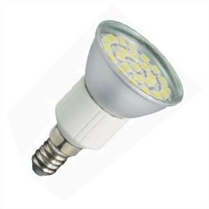 E14 LED Spot JDR 24SMD 12v en 24v Warm wit