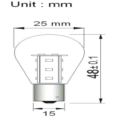 BAY15D LED Lamp 12SMD 12V en 24V Multi-voltage -746