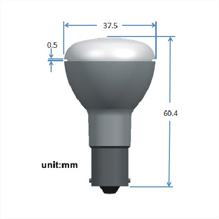 BAY15d LED Spot 12V en 24V Warm wit Melkglas