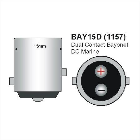 BAY15D LED Spot 12V en 24V Warm wit