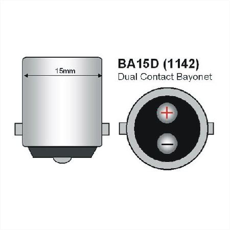 BA15D LED Lamp met nacht sensor-970