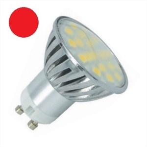 Rood GU10 LED Spot 12V en 24V 4 watt