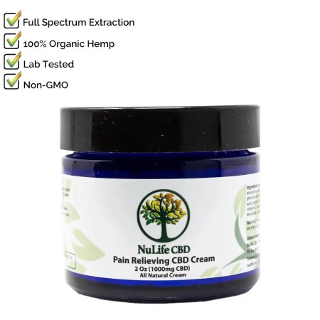 Nulife CBD Oils 1000mg CBD Cream Salve