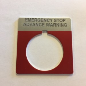 Marathon Legend Plate Emergency Stop Advanced Warning 03-0268