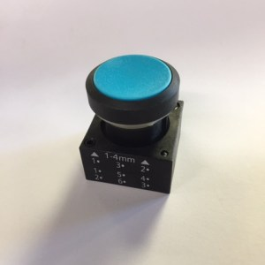 Galbreath Button, Blue Push A3501