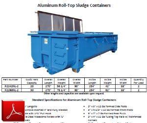 Aluminum Roll-Off Sludge Container