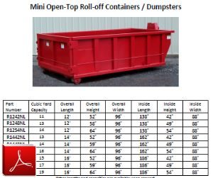 Mini Open-top Roll-off Container