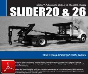 STELLAR Slider 20-26 Hook Lift Hoist