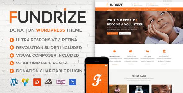 Fundrize 1.9 – Responsive Donation & Charity WordPress Theme