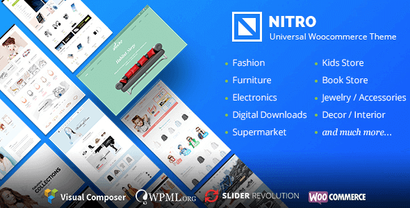 Nitro 1.7.7 – Universal WooCommerce Theme From eCommerce Experts NULLED