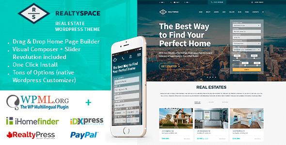 Realtyspace 1.4.16 - Real estate WordPress Theme