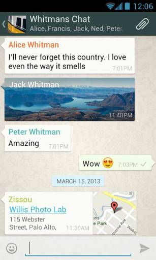 WhatsApp Messenger App Android Free Download