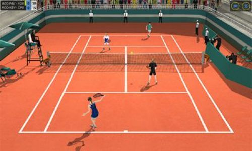 Flick Tennis College Wars Game Android Free Download
