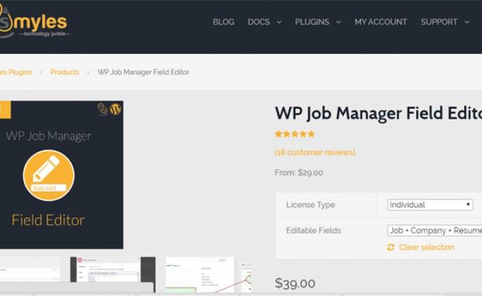 WP Job Manager Field Editor Plugin WordPress Free Download