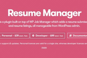 WP Job Manager Resume Manager Plugin WordPress Free Download