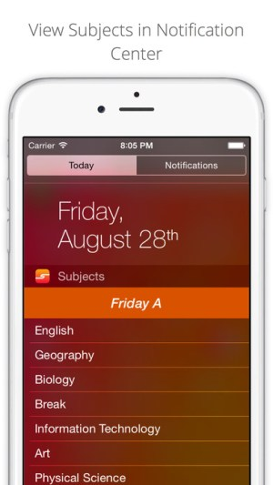 Subjects - School Timetable Ipa App iOS Free Download