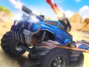 Overload 3D MOBA Car Shooting Game Android Free Download