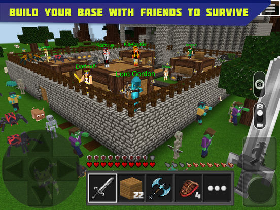 Planet of Cubes Survival Craft Ipa Game iOS Free Download
