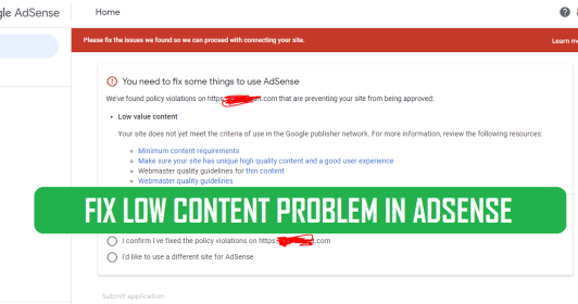 How to Fix low value content AdSense problem | 100% Fixed Live proof AdSense Approval Tips