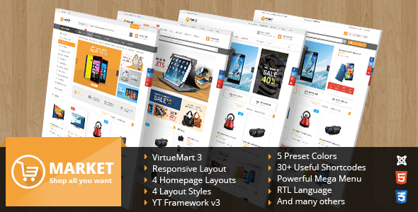 Nulled SJ Market – Responsive Multipurpose VirtueMart Theme | NulledTorrent