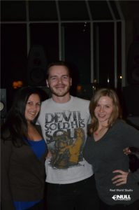 Rachel & Robyn with Ralph Yandell from the Stimula Band at Real World Studios with Null Paradox.