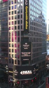 Gertrude & Grace, Times Square, Manhattan, New York: Null Paradox