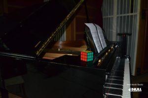 Yamaha Grand Piano at Real World Studios with Null Paradox. Photography by Tom Libertiny.