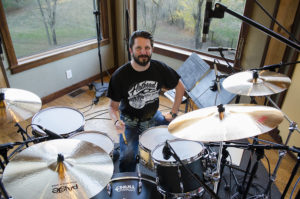 Dave Ziozios at Dark Horse Recording Studio. Photography by Tom Libertiny