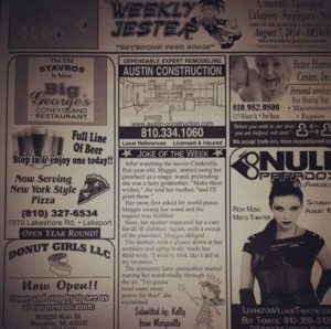Null Paradox in The Weekly Jester, Michigan
