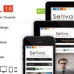 Setiva - Responsive Magazine Blogger Template Free Download