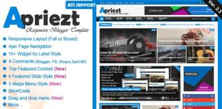 Apriezt Responsive Magazine News Blogger Theme Free Download