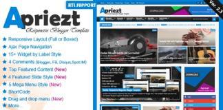 Apriezt Responsive Magazine News Blogger Theme Free Download