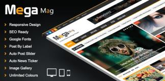 Mega Mag - Responsive Magazine Blogger Template Free Download