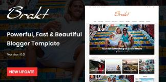 Brakt Personal Blogger Template Free Download