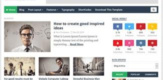 Ideas Mag Premium Blogger Template Download