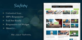 Safety Responsive MultiPurpose Blogger Template Free Download