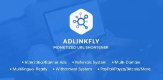 AdLinkFly Monetized URL Shortener Nulled