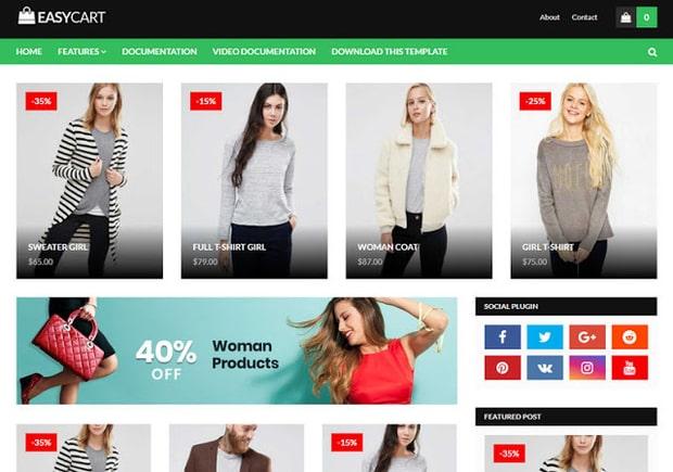 Easy Cart Blogger Template Online Shopping Website Blogger Templates