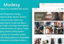 Modesy Marketplace and Classified Ads Script Nulled