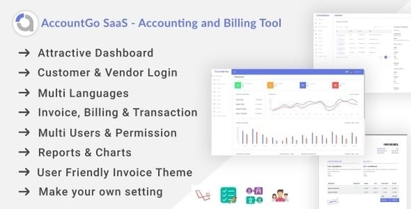 AccountGo SaaS - Accounting and Billing Tool Nulled