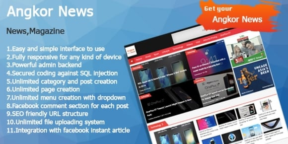 Angkor News - News CMS PHP Script - Codester Nulled Script