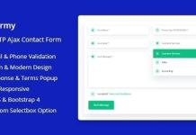 Conformy - PHP Ajax Modern Contact Form