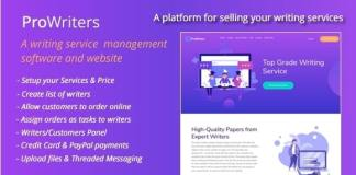 ProWriters Sell Writing Services Online PHP Script