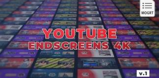 YouTube EndScreens 4K Template
