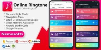 Android Online Ringtone App Source Code
