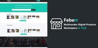 Feberr Multivendor Digital Products Marketplace Nulled Script