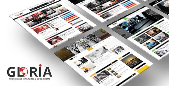 Gloria Multiple Concepts Blog Magazine WordPress Theme