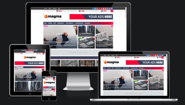 Magma Premium Version Responsive Magazine Blogger Template