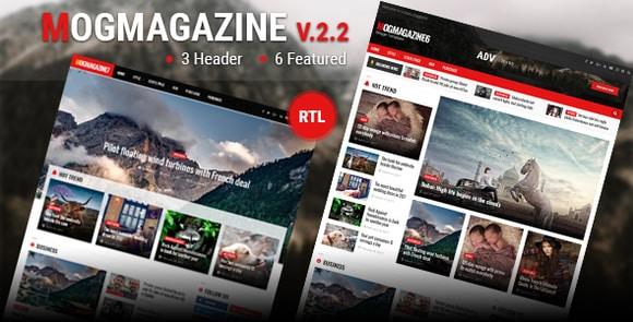 Mogtemplates MogMagazine Template For Blogger